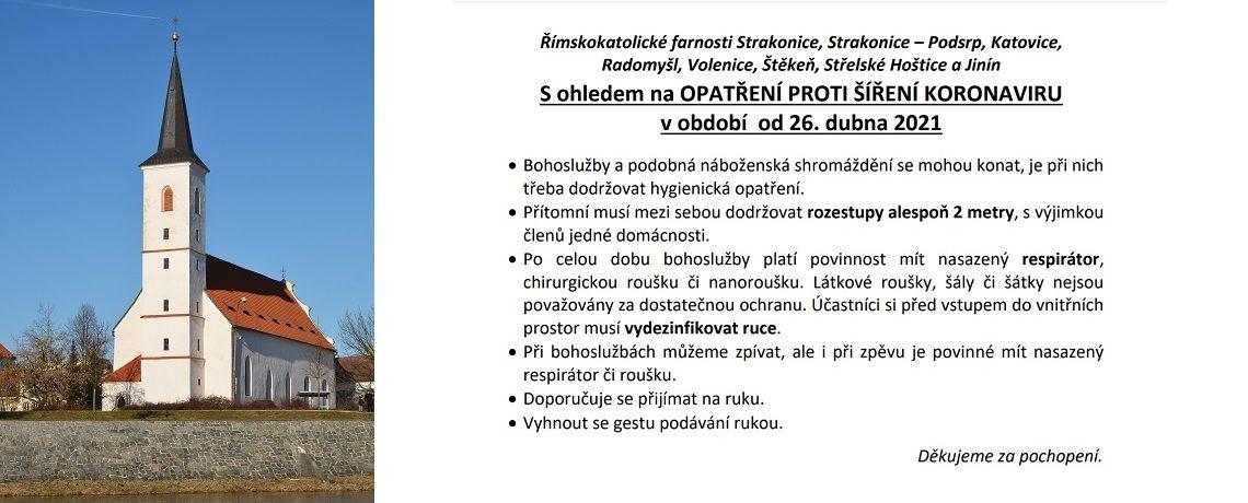 Opatření proti šíření koronaviru od 26.4.2021